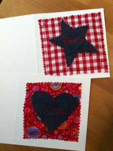 Machine embroidered cards 007