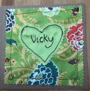 Machine embroidered cards 016