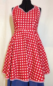 Retro spotty '50's apron