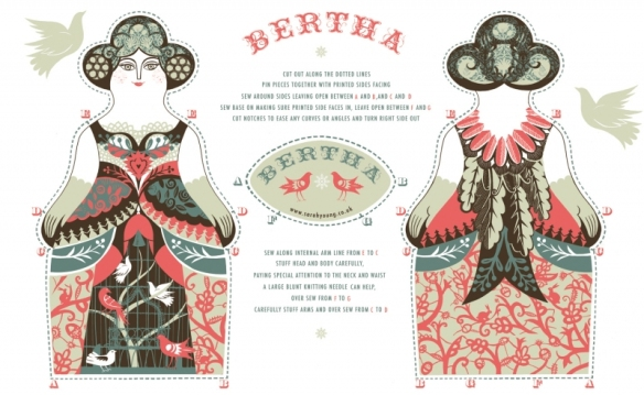 bertha tea towel kit