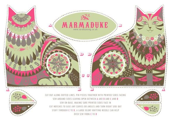 marmaduke tea towel kit