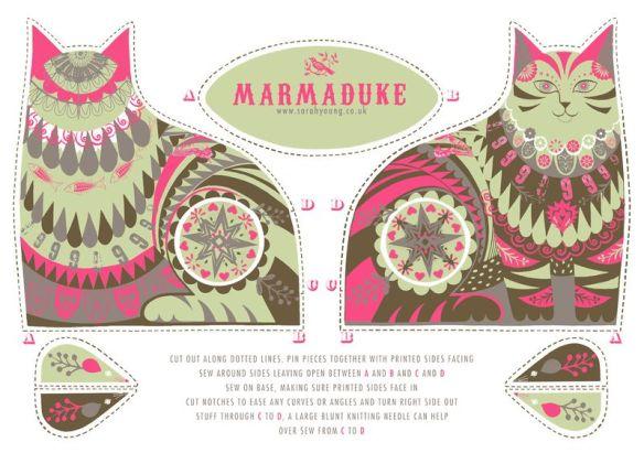 marmaduke tea towel kit