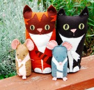 Cat & Mouse sewing kits