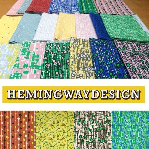 Hemmingway Design fabric collection